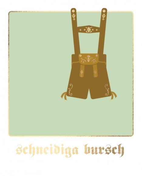 Postkarte: schneidiga bursch