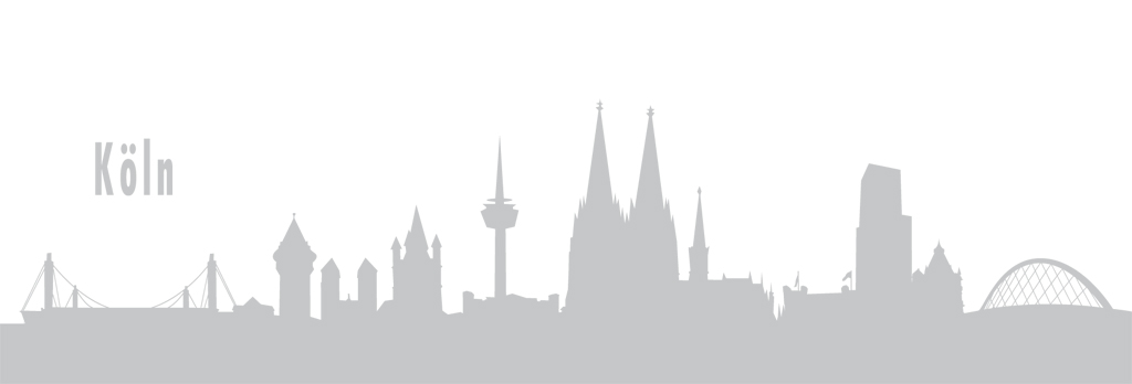 Autoaufkleber Köln Skyline Silber