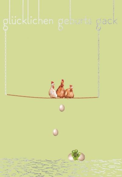 Postkarte: Glücklichen Geburts-Gack