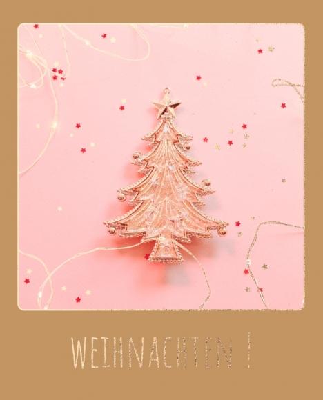 Doppelkarte: Anhänger Weihnachtsbaum - Weihnachten!