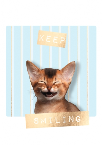 Doppelkarte: Keep smiling