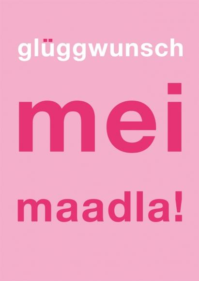 Postkarte: glüggwunschmeimaadla