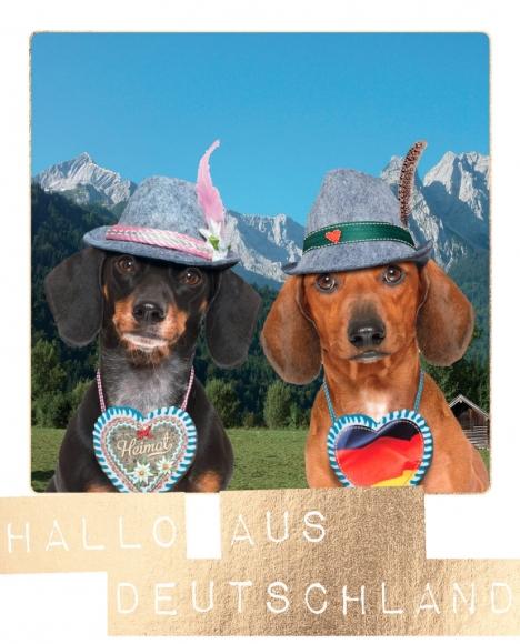 Postkarte: Hallo aus Deutschland