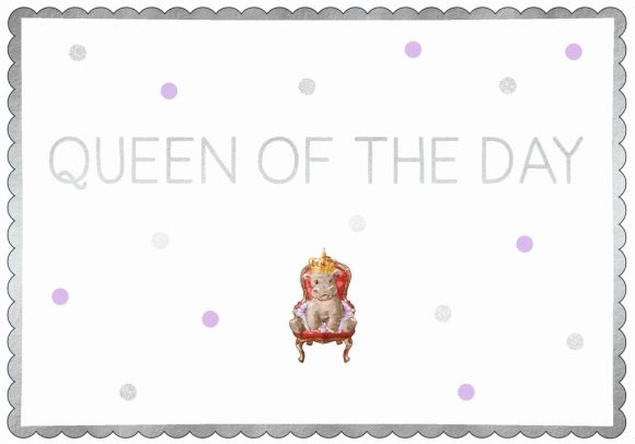Postkarte: Queen of the Day