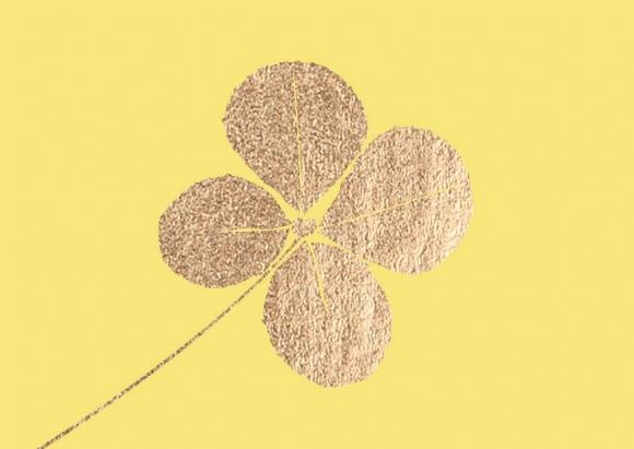 Mini-Doppelkarte: Kleeblatt mit Stanzung