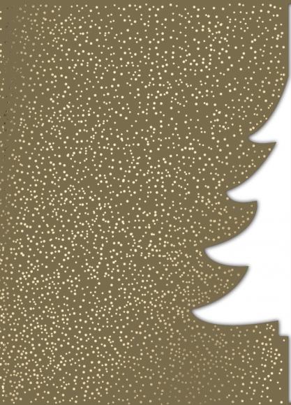 Doppelkarte: Gestanzter Weihnachtsbaum