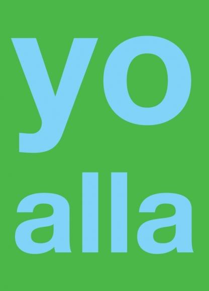 Postkarte: yo alla