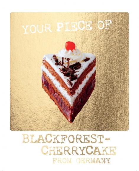 Postkarte: Your piece of Blackforest-Cherrycake from Germany