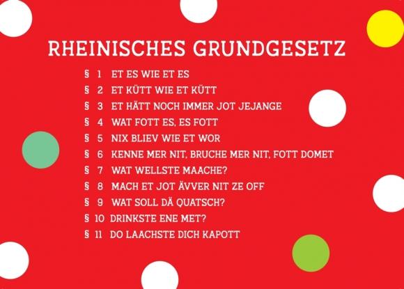 Postkarte: Rheinisches Grundgesetz