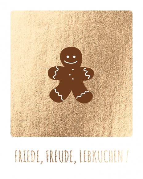 Mini-Postkarte: Friede, Freude Lebkuchen!