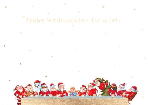 Postkarte: Lange Tafel