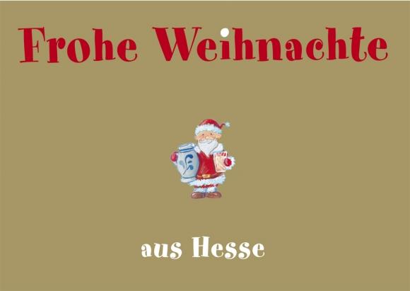 Doppelkarte: Frohe Weihnachte aus Hesse