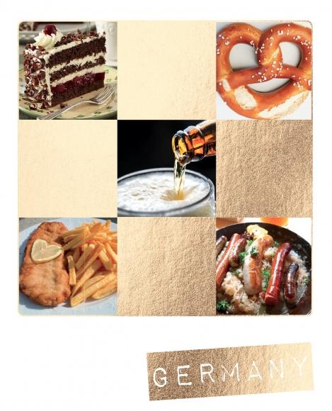 Postkarte: Germany kulinarisch