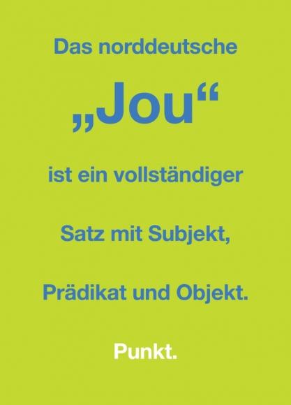 """Postkarte: Das norddeutsche """"Jou"""" ist ein vollständiger Satz"""