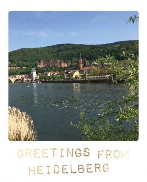 Postkarte: Greetings from Heidelberg