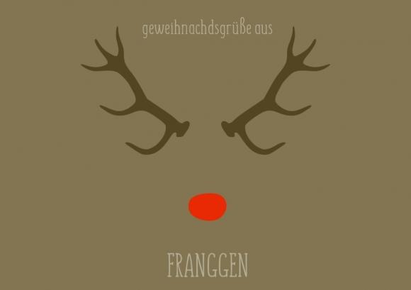 Postkarte: geweihnachdsgrüße aus franggen