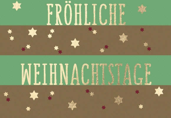 Mini-Doppelkarte: Fröhliche Weihnachtstage