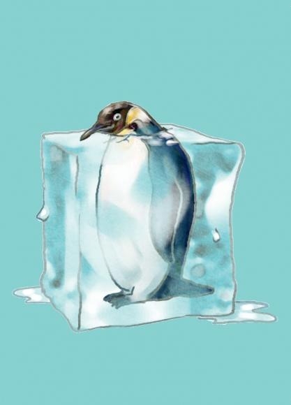 Eiskratzerkarte: Pinguin