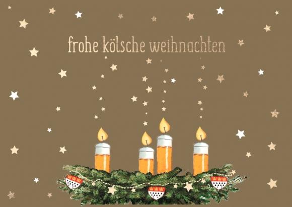 Postkarte: frohe kölsche weihnachten