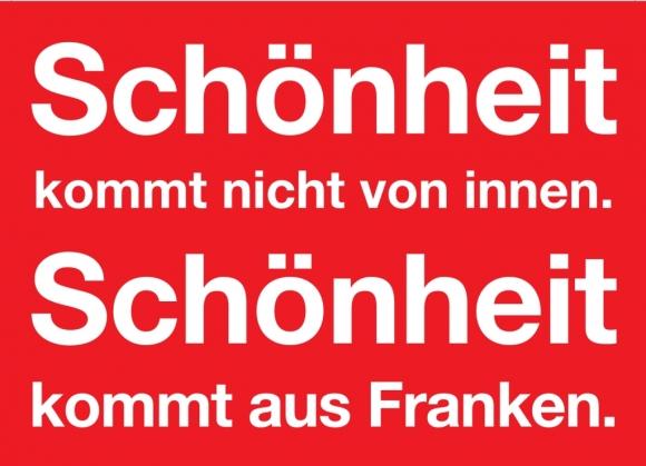 Postkarte: ...Schönheit kommt aus Franken