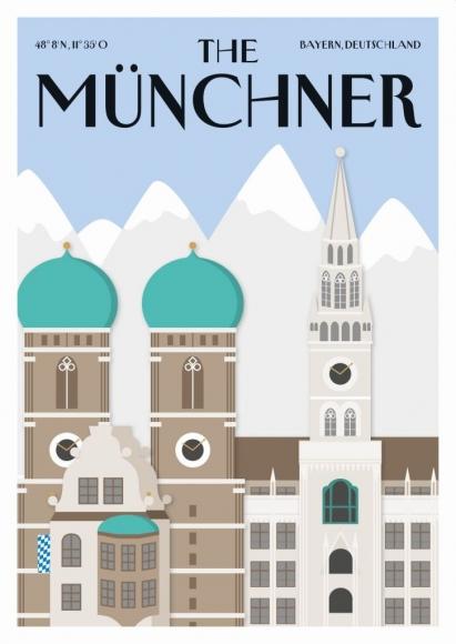 Postkarte: The Münchner - Frauenkirche