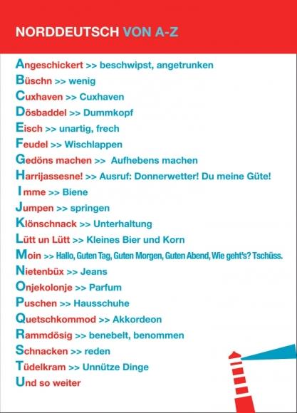 Postkarte: Norddeutsch von A-Z