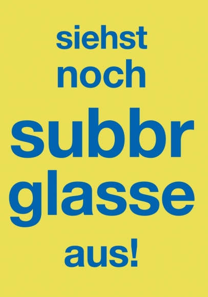 Doppelkarte: siehst noch subbr glasse aus!