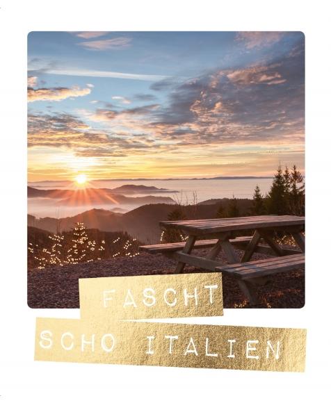 Postkarte: Fascht scho Italien