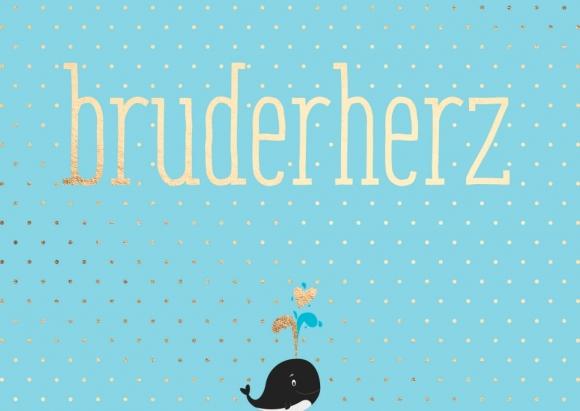 Postkarte: Bruderherz - Wal