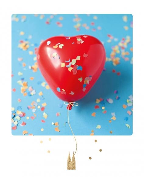 Postkarte: Herzballon