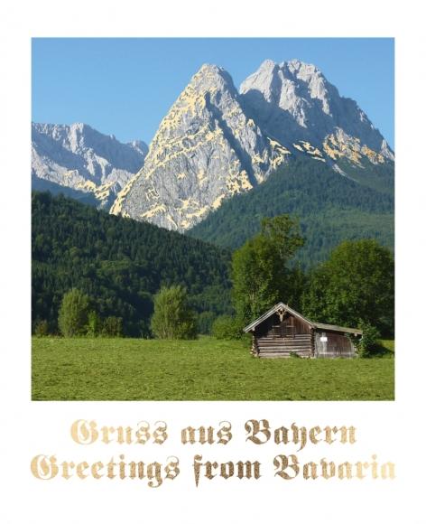 Postkarte: Gruß aus Bayern - Greetings from Bavaria