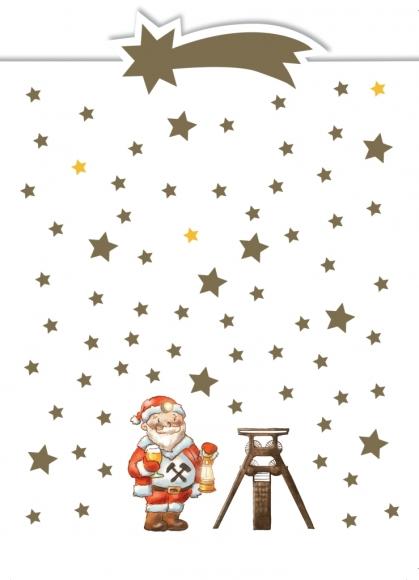 Postkarte: Weihnachtsmann u. Zeche - Ruhrgebiet