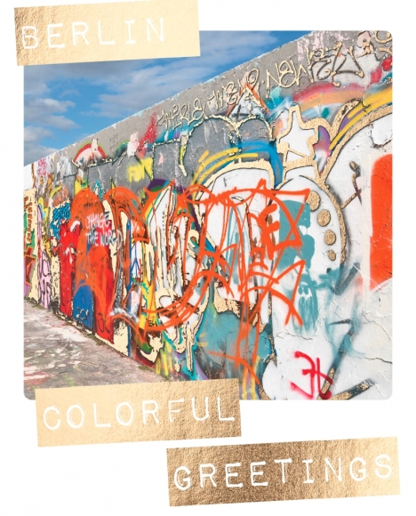 Postkarte: Berlin colorful greetings