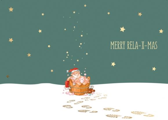 Postkarte: MERRY RELA-X-MAS