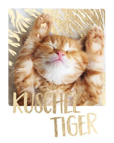 Mini-Postkarte: Kuschel-Tiger