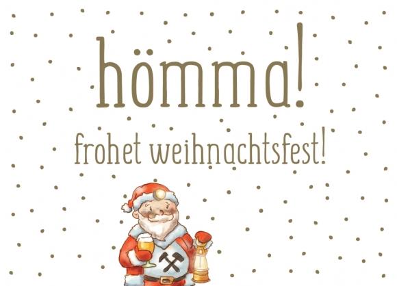 Postkarte: hömma! frohet weihnachtsfest!
