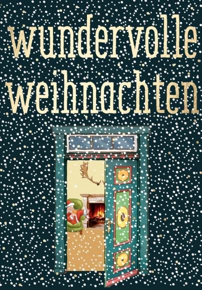 Postkarte: Wundervolle Weihnachten