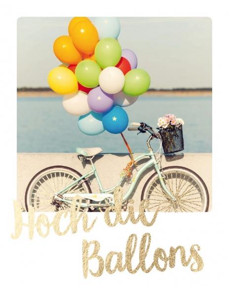 Mini-Postkarte: Hoch die Ballons