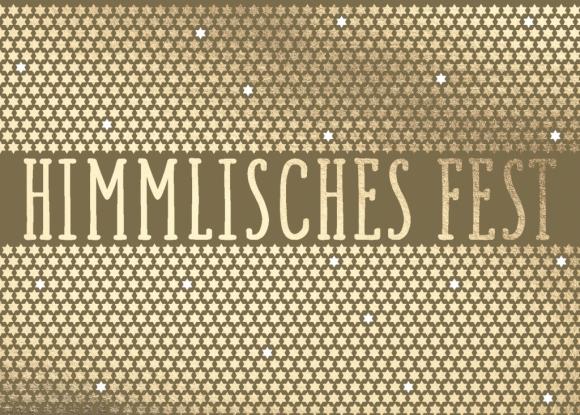 Postkarte: Himmlisches Fest