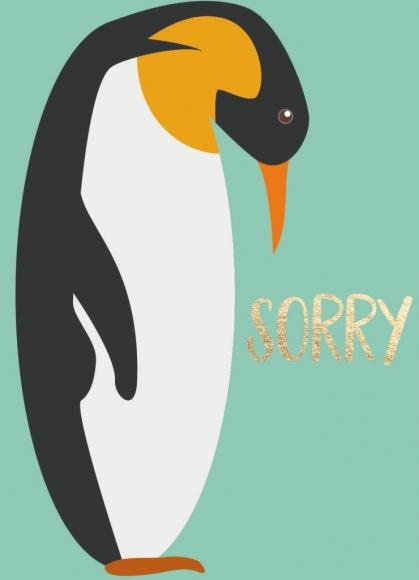 Midi-Doppelkarte: Sorry