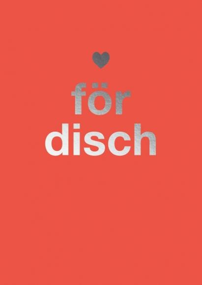 Postkarte: För disch. Herz.