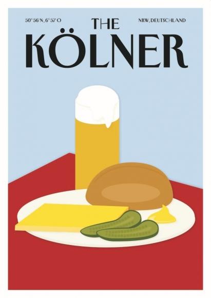 Postkarte: The Kölner - Halve Hahn