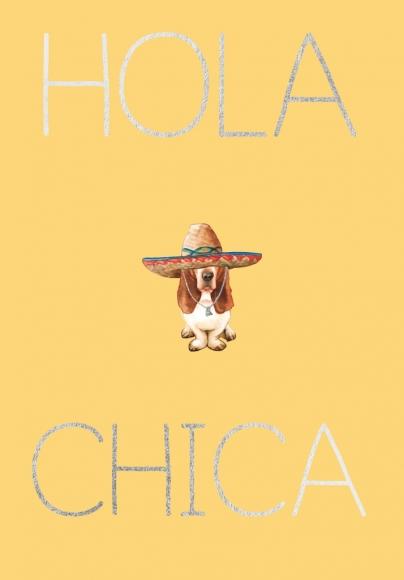 Postkarte: Hola Chica