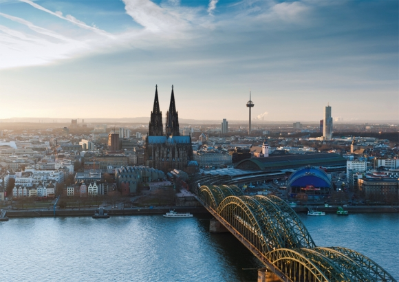 Postkarte: Blick über Köln