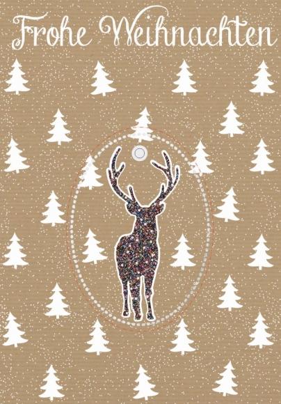 Doppelkarte: Frohe Weihnachten - Rudolf