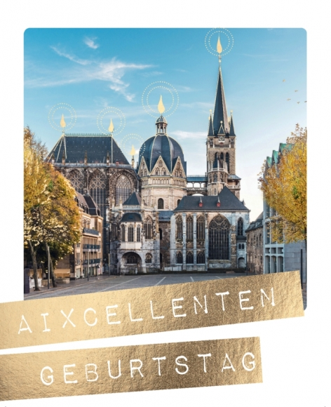 Postkarte: Aixcellenten Geburtstag