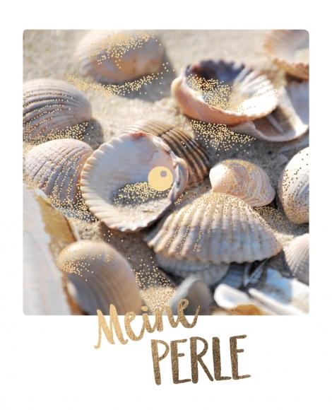 Postkarte: Meine Perle