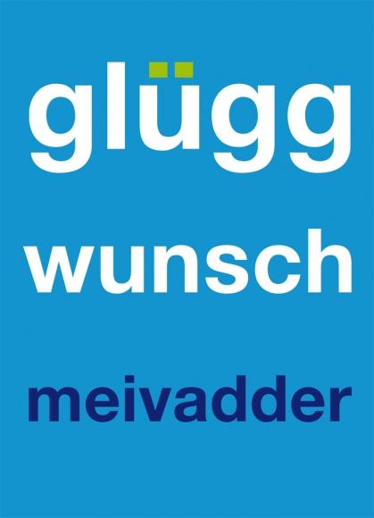 Postkarte: glüggwunschmeivadder