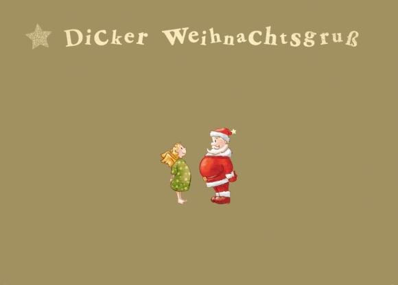 Postkarte: Dicker Weihnachtsgruß