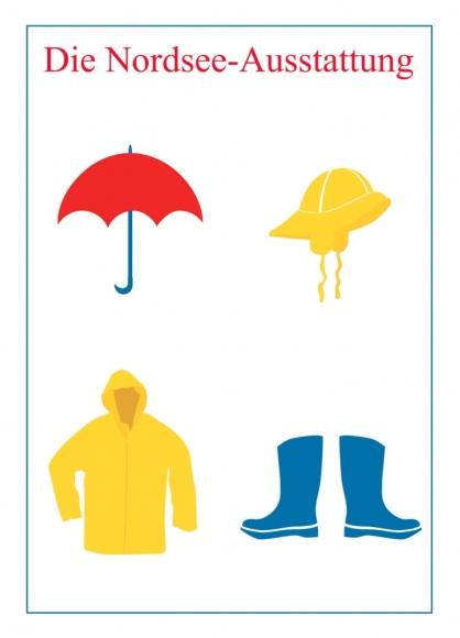 Postkarte: Die Nordsee-Ausstattung